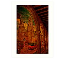 The Cathedral. Campeche. Mexico Art Print