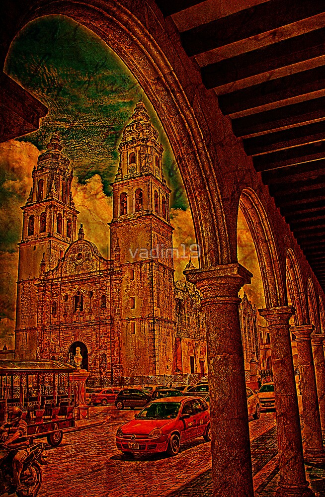 The Cathedral. Campeche. Mexico by vadim19