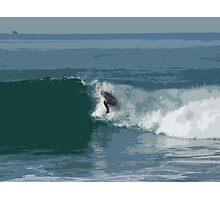 Cutout Surfer #2 Photographic Print