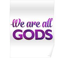 We Are All Gods   Rubix Ball   Fractal Art Poster