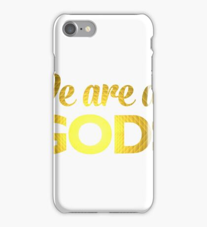 We Are All Gods | Double Pyramid | Fractal Art iPhone Case/Skin