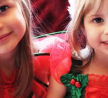 Little Girls Waiting For Santa Sticker