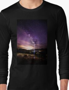 Milky Way Stargazing with Friends Long Sleeve T-Shirt