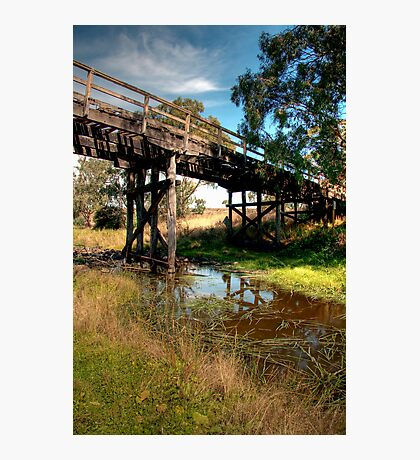 The Ellerslie Bridge, Over Letts Ford Photographic Print