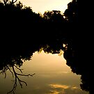 Sunset Riverbank by sarahjayde