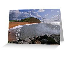 East Cliff, West Bay, Dorset, UK Greeting Card