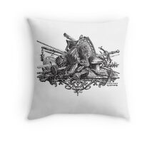 Medieval weapons Throw Pillow