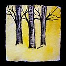 birch trees by pinetreeart