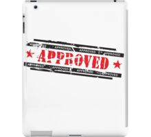 Approved stamp iPad Case/Skin