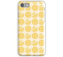 Cheerful Citrus in Sour Lemon Yellow iPhone Case/Skin