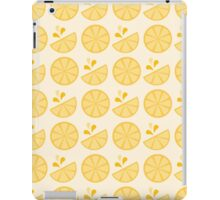 Cheerful Citrus in Sour Lemon Yellow iPad Case/Skin