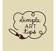 Simple Art Tips Logo Photographic Print