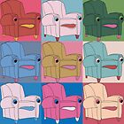 The Ease Chair goes Warhol by Erik McCall