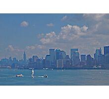 New York Harbor in Pastel Photographic Print