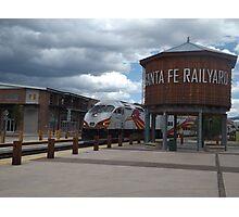 New Mexico Railrunner Departs Santa Fe Railyard, Santa Fe, New Mexico Photographic Print