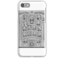 Masonic Presidents iPhone Case/Skin
