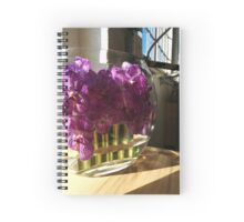 Purple Orchids at Blue Bottle Coffee Spiral Notebook