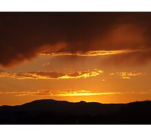 Sunset and Mountains, Santa Fe, New Mexico Photographic Print