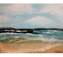 Old Orchard Beach. Acrylic Painting. Photographic Print