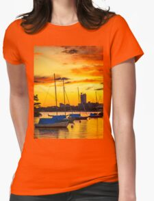 Anchored in gold Womens Fitted T-Shirt
