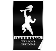 Barbarian Inverted Poster