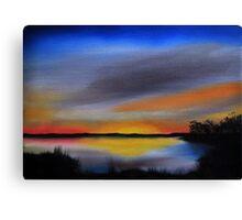 Daily Oil Painting Plein Air Maryland Wildlife Canvas Print