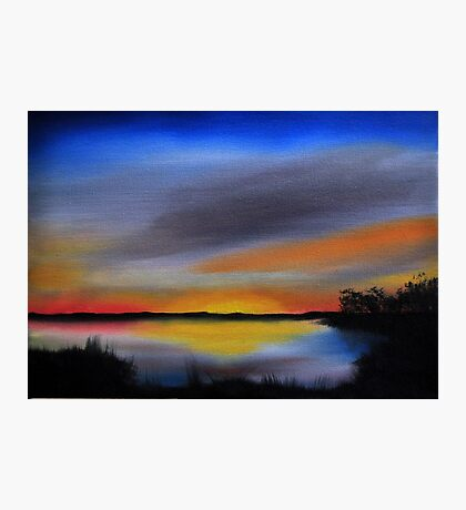 Daily Oil Painting Plein Air Maryland Wildlife Photographic Print