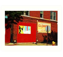 Drive by Cleaners Art Print