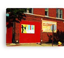 Drive by Cleaners Canvas Print