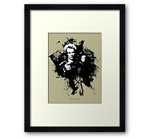 I'll cut you with my blade! Framed Print