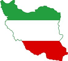 Flag Map of Iran Tricolor  by abbeyz71