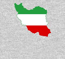 Flag Map of Iran Tricolor  Unisex T-Shirt