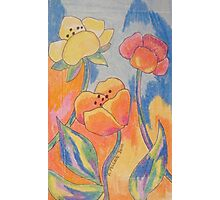 Fun Fauvist Flowers Photographic Print