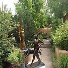 Sculpture Garden, Canyon Road, Santa Fe, New Mexico by lenspiro