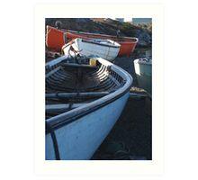 Boats on the Shore Art Print