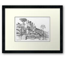 Capri Ferry Wharf, Sorrento, Italy Framed Print
