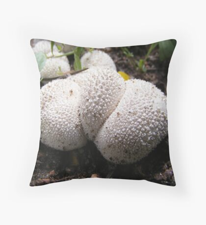 Puffball Mushroom Throw Pillow