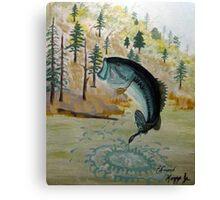 Largemouth Bass Painting Canvas Print