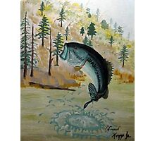 Largemouth Bass Painting Photographic Print