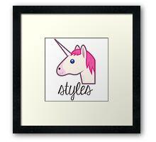 Unicorn Styles (One Direction) Framed Print