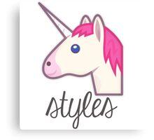 Unicorn Styles (One Direction) Canvas Print