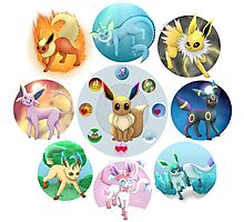 Eeveelutions Photographic Print