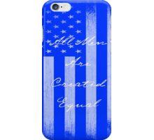 Vintage All Men Created Equal US Flag iPhone Case/Skin