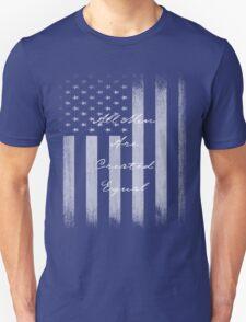 Vintage All Men Created Equal US Flag Unisex T-Shirt