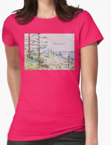 Norfolk Pines, Bucks Point Womens Fitted T-Shirt