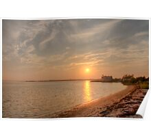 Sunset In Hampton Bays Poster