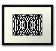 Zebra Fur Tile Framed Print