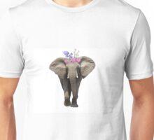 Flower Crown Elephant Unisex T-Shirt
