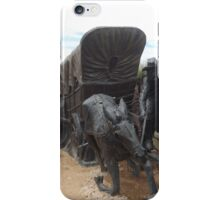 Horse and Covered Wagon Sculpture, Santa Fe, New Mexico  iPhone Case/Skin