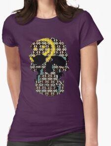 Sherlock's Skull and Wallpaper Womens Fitted T-Shirt
